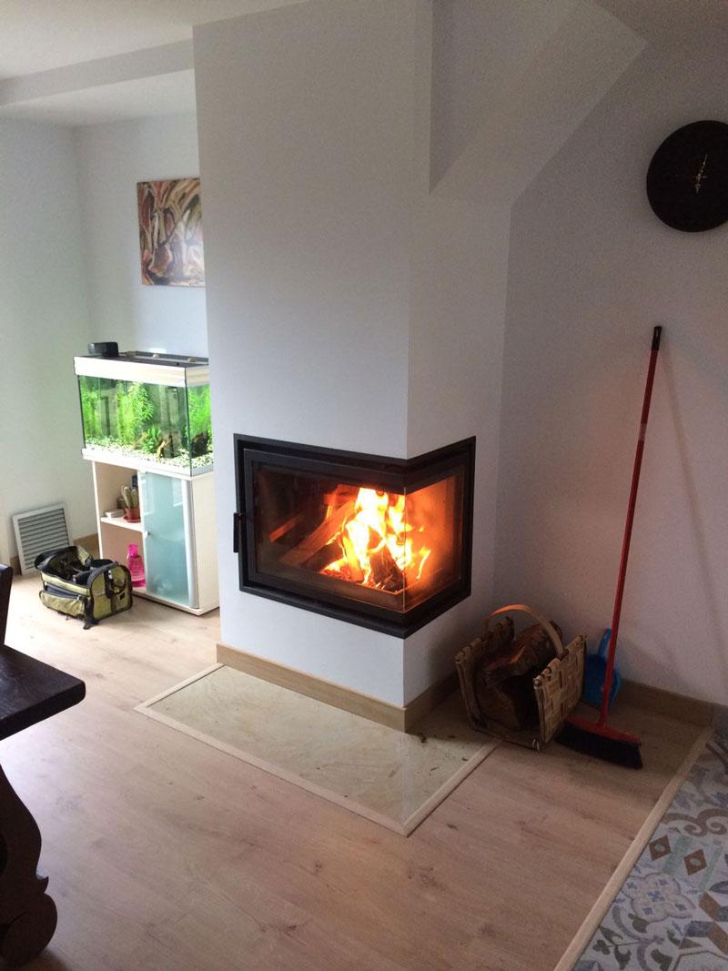 instalación de fogón calefactor biomasa