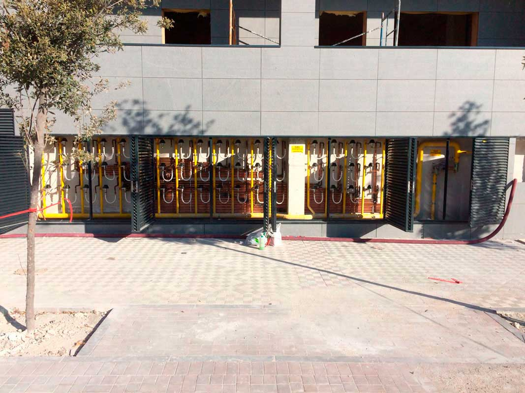instalación de gas natural en edificios